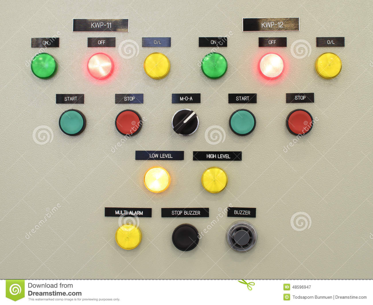 The fire control panel , Industries