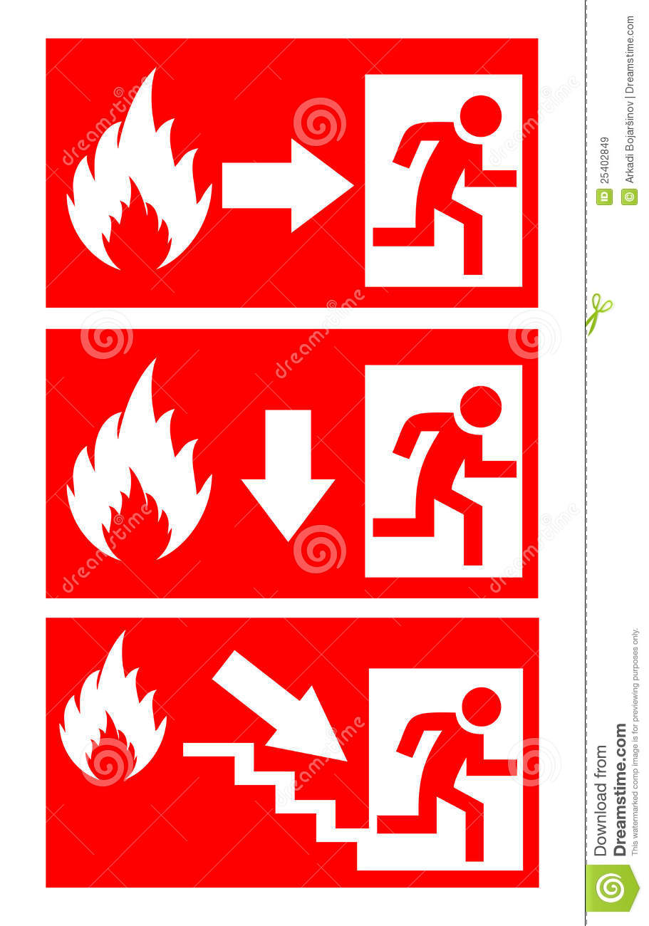Fire Danger Sign Royalty Free Stock Images Image 25402849