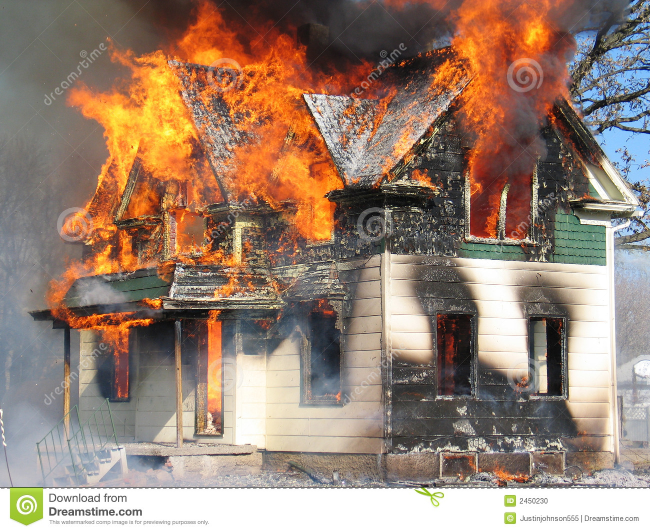 Fire Dangers Stock Photo - Image: 2450230