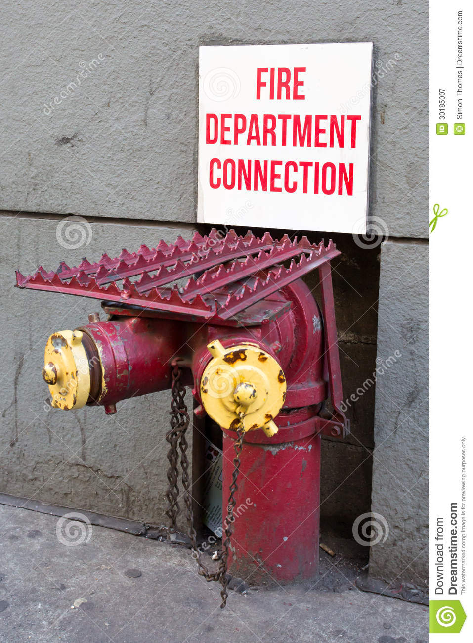 Fire Department Connection Royalty Free Stock Photography ...