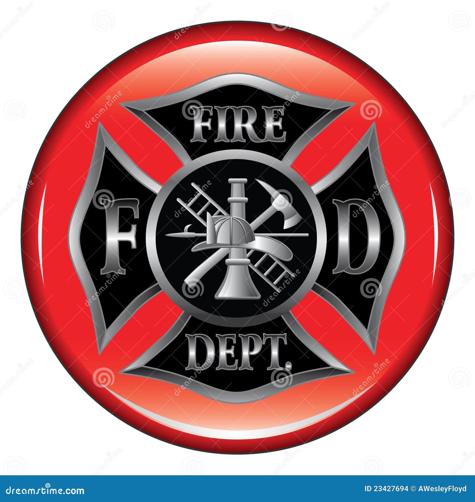 Fire department maltese cross button stock vector illustration fire department maltese cross button biocorpaavc