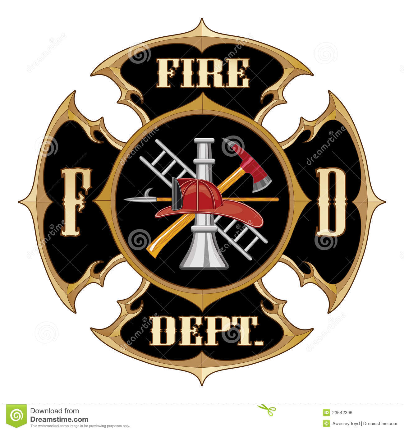 Fire Department Maltese Cross Stock Illustrations 143 Vectors Clipart