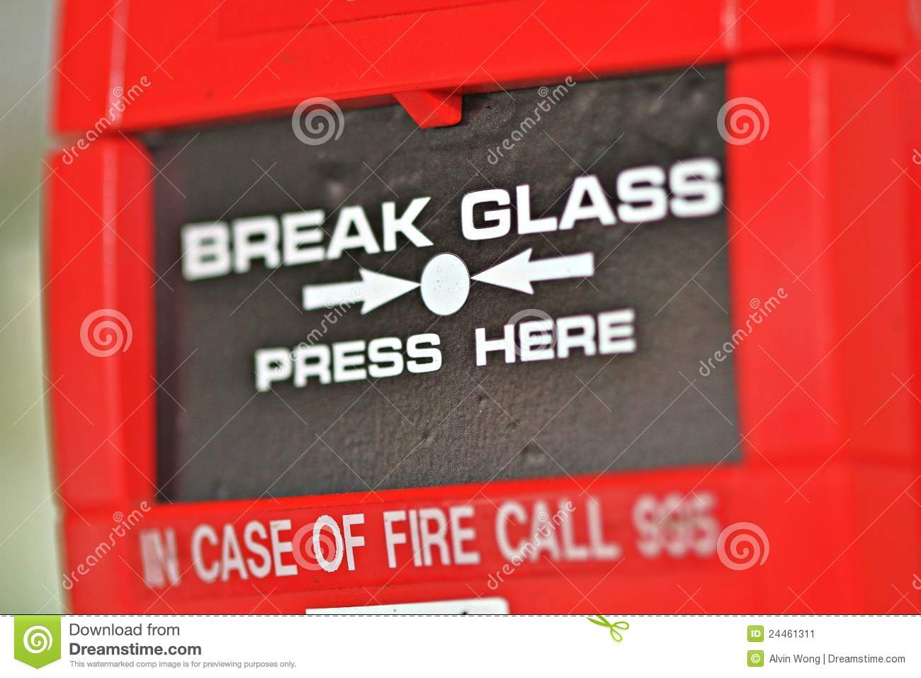 Fire detection stock image