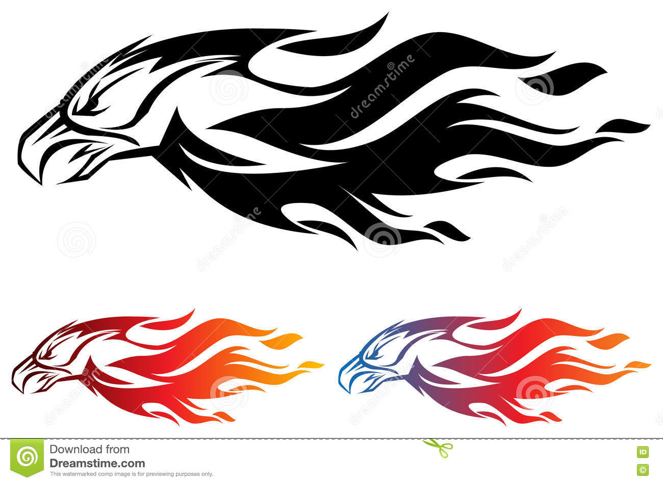 fire eagle stock vector illustration of line logo