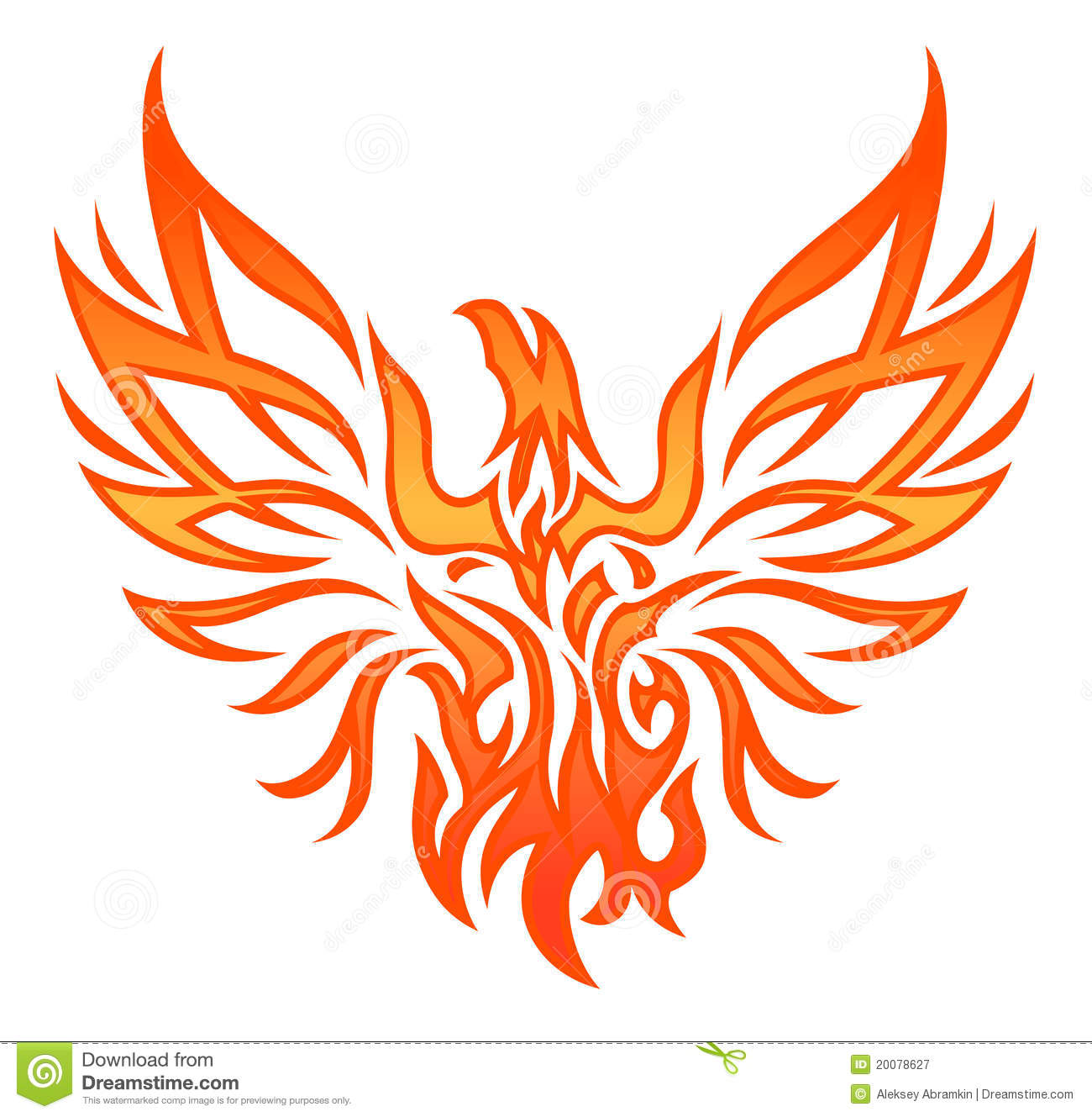 Fire Eagle Tattoo Royalty Free Stock Photography - Image: 20078627