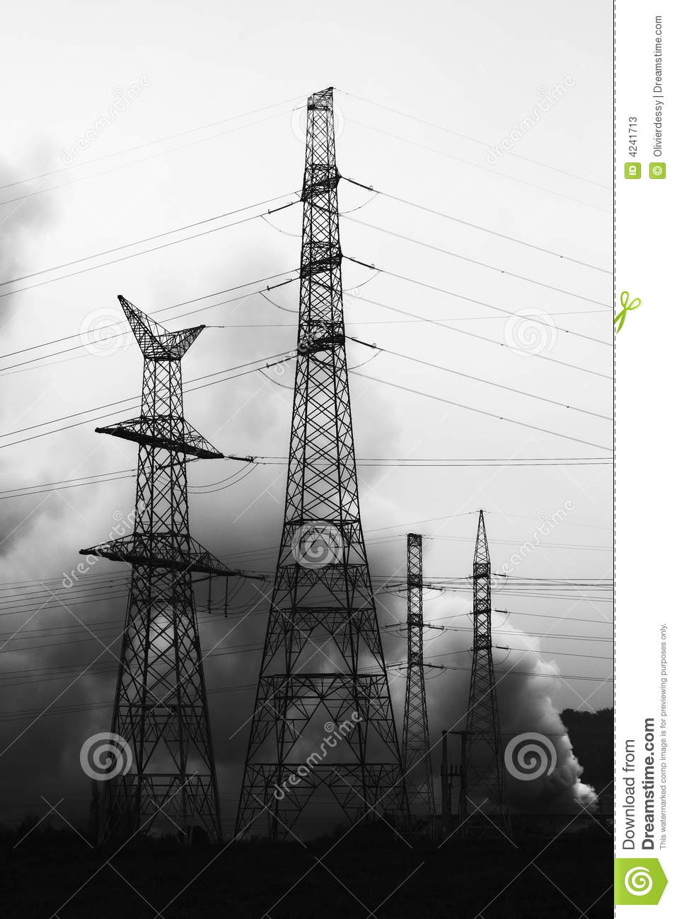 Fire In Electric Plant Stock Image Image Of Fire Explosion 4241713