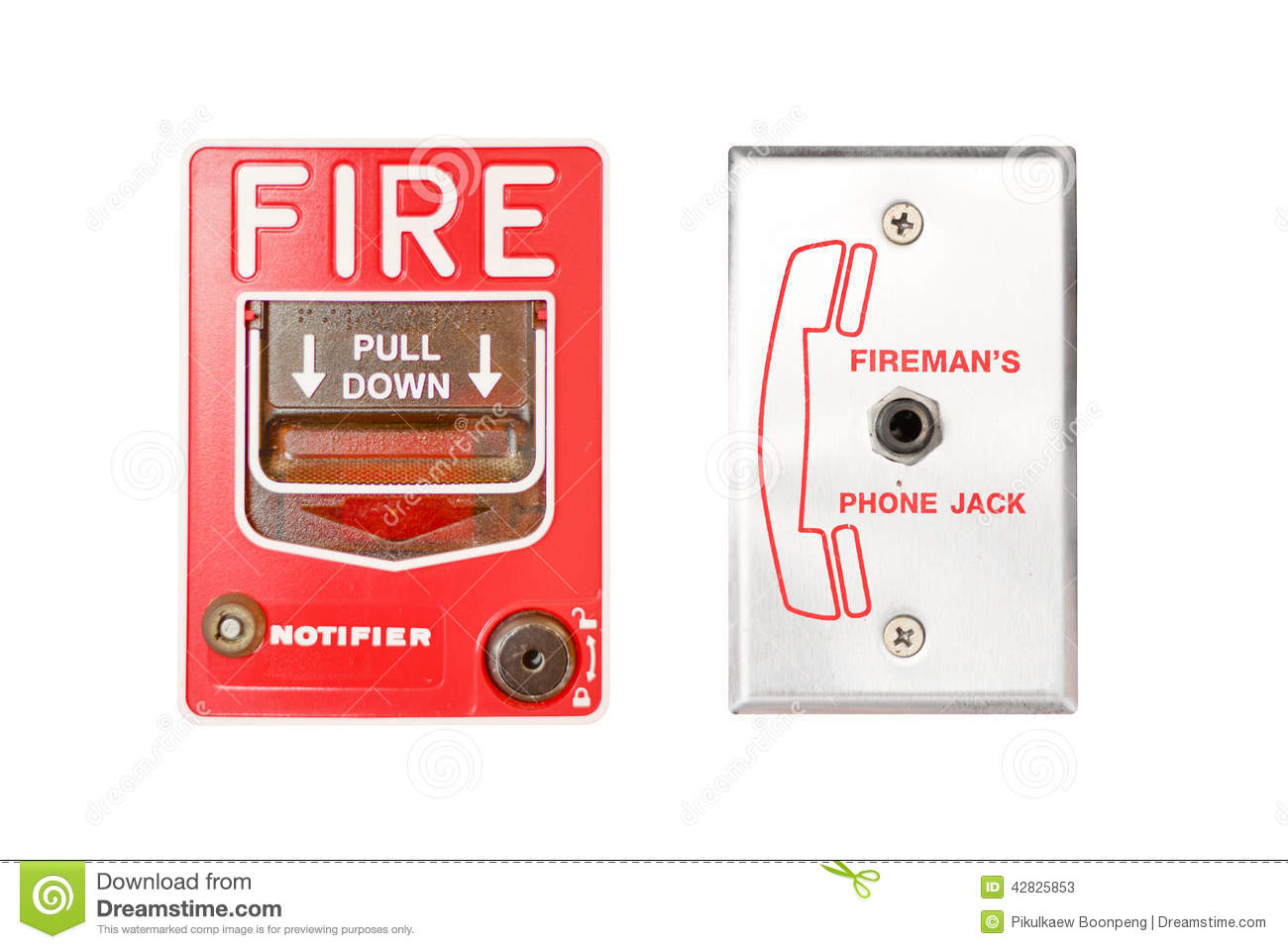 Fire Emergency Alarm Stock Illustration Image 42825853