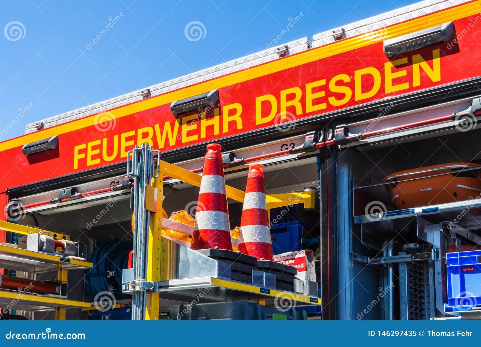 Fire engine Dresden, Saxony