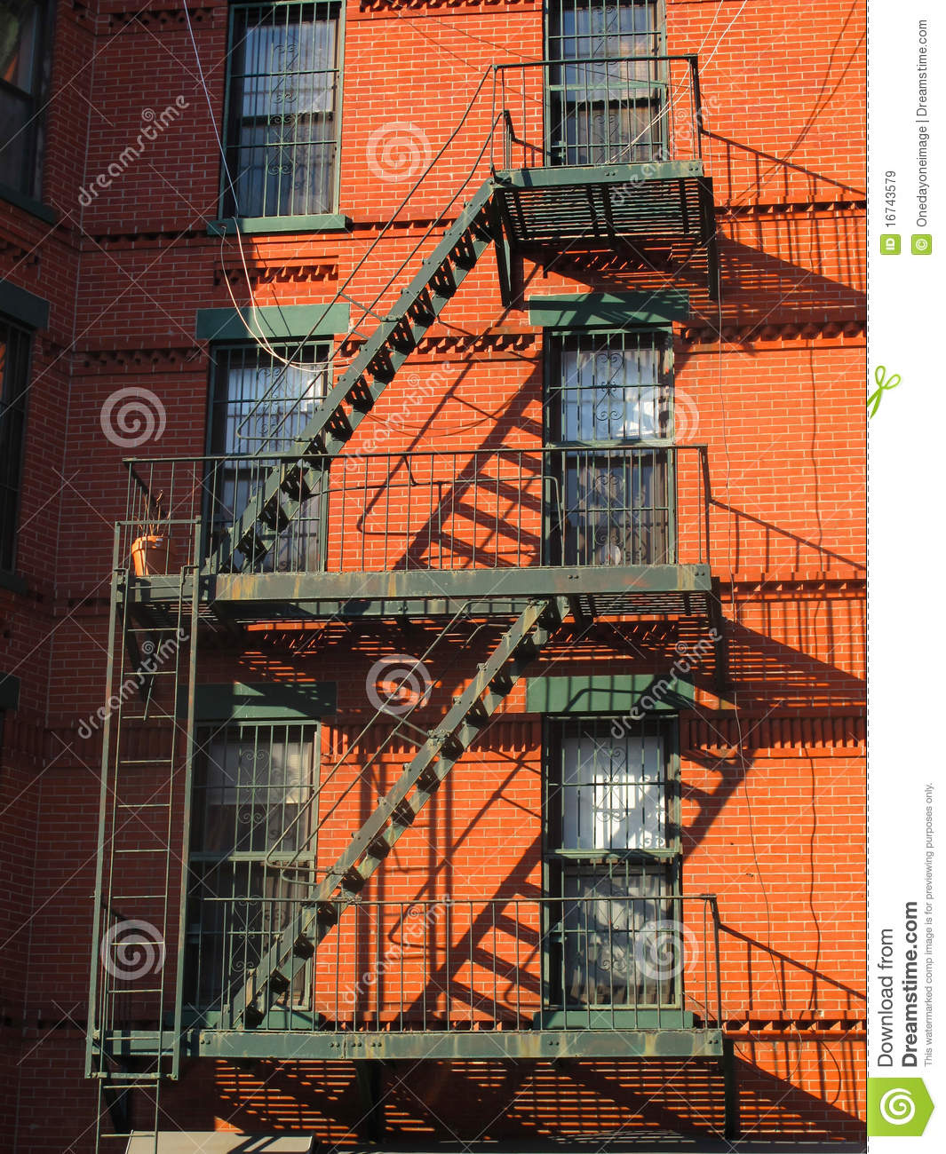 Old Fashioned Fire Escape stock photo. Image of apartments ...