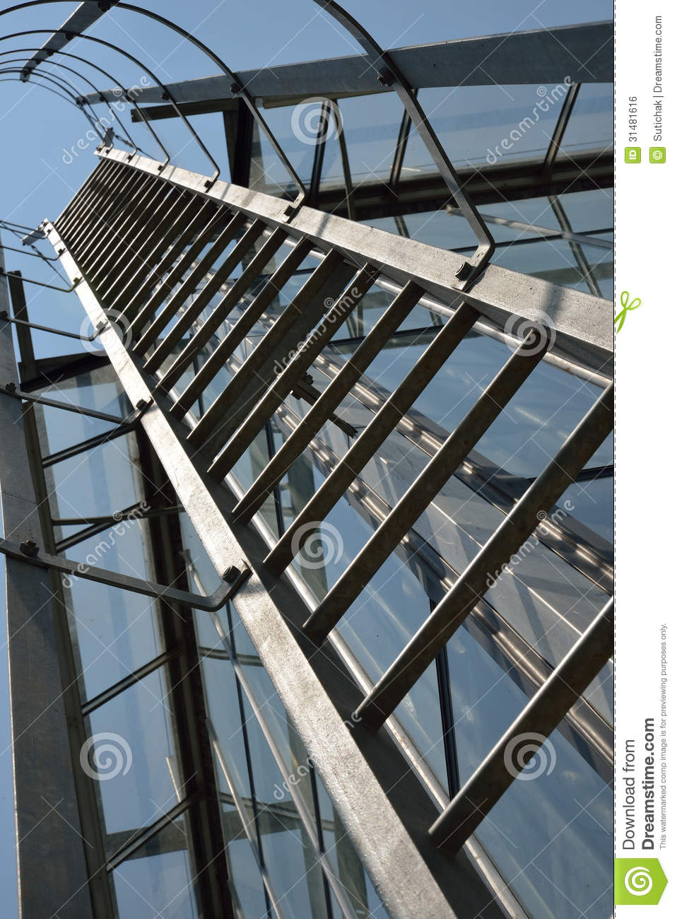 Apartment Building Fire Escape Ladder fire escape ladder on a building royalty free stock image - image