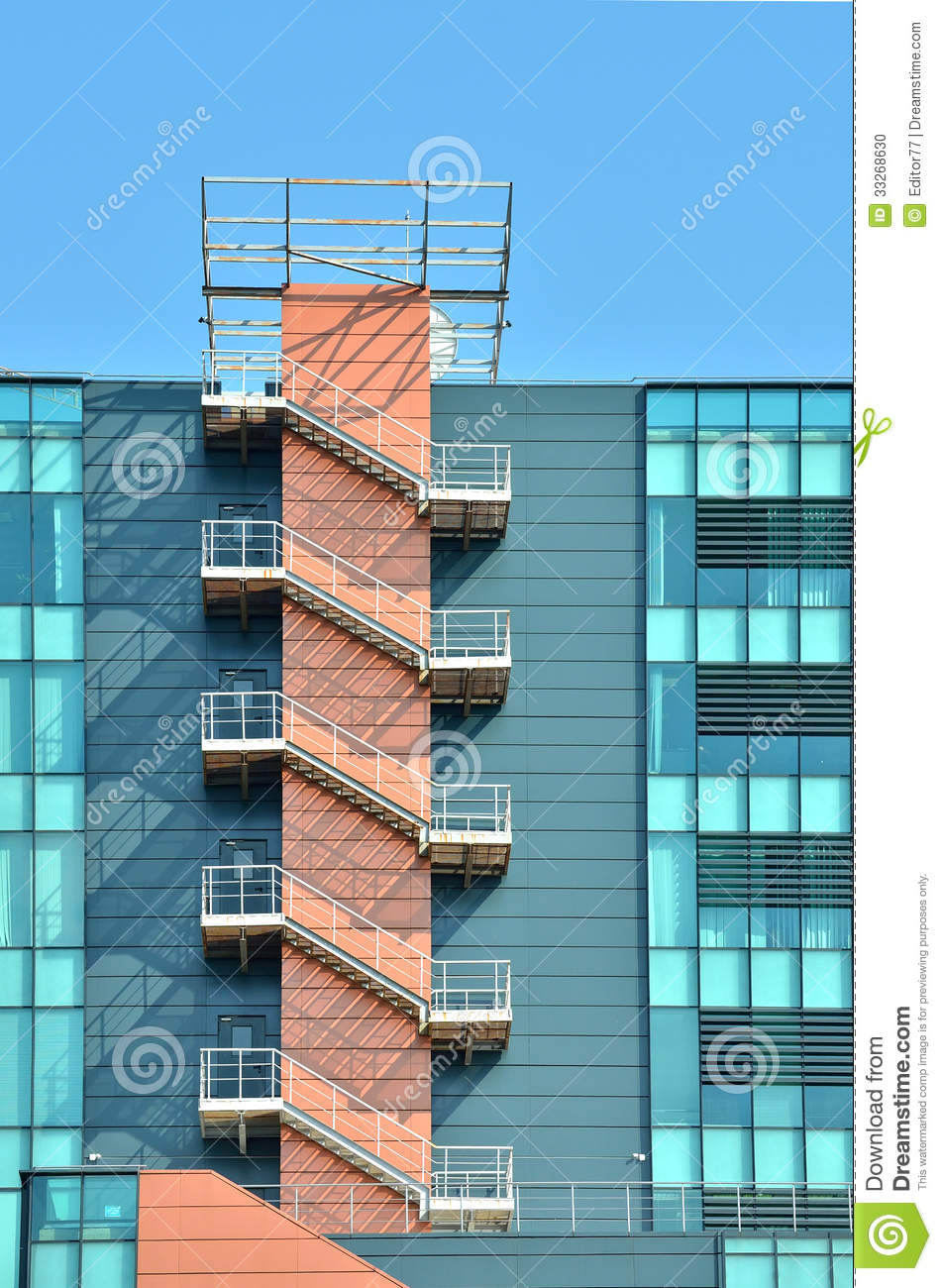 Fire Escape Outdoor Stairs Stock Photo Image 33268630