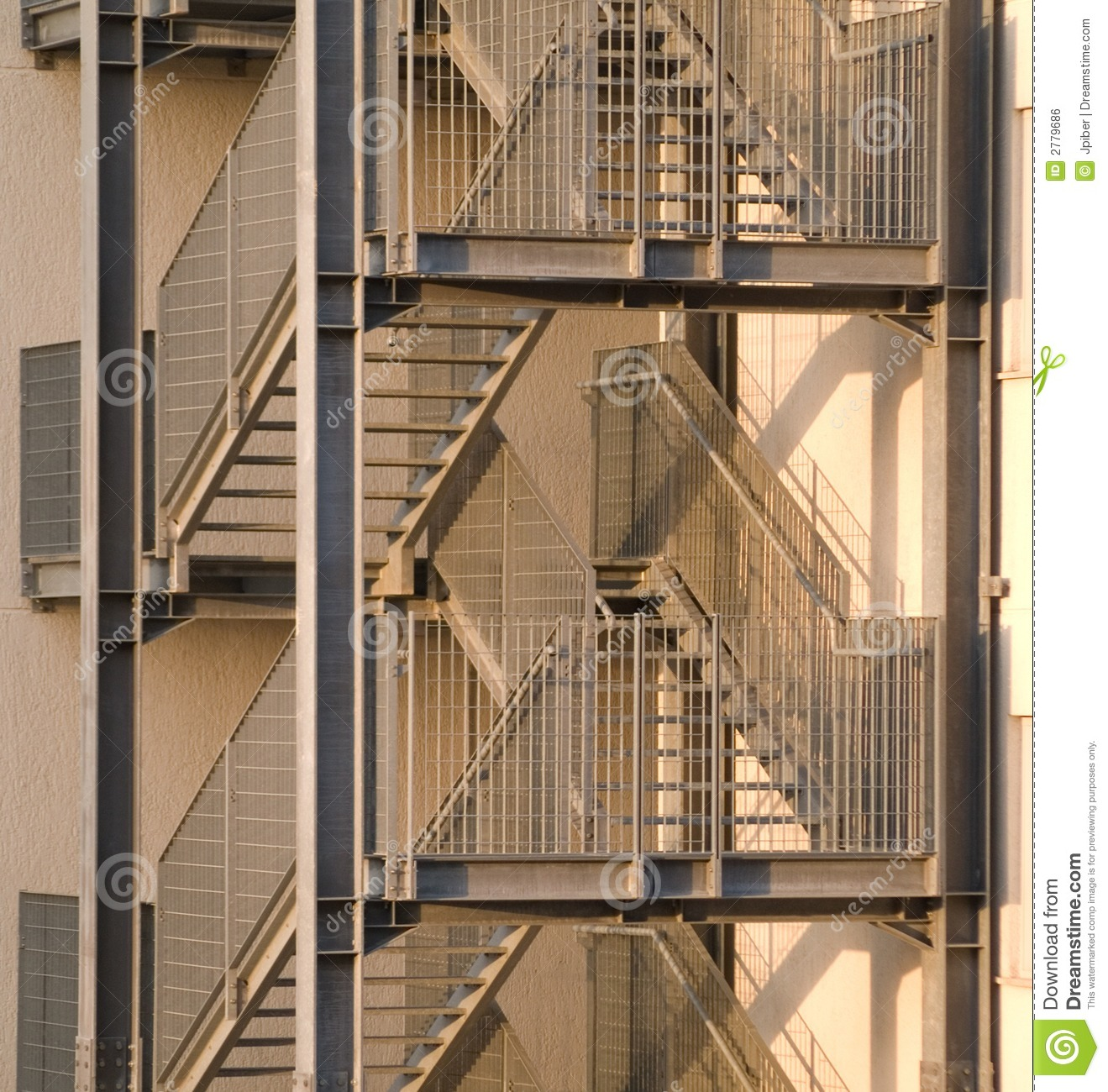 Fire Escape Stair Stock Photo Image Of Stair Escape
