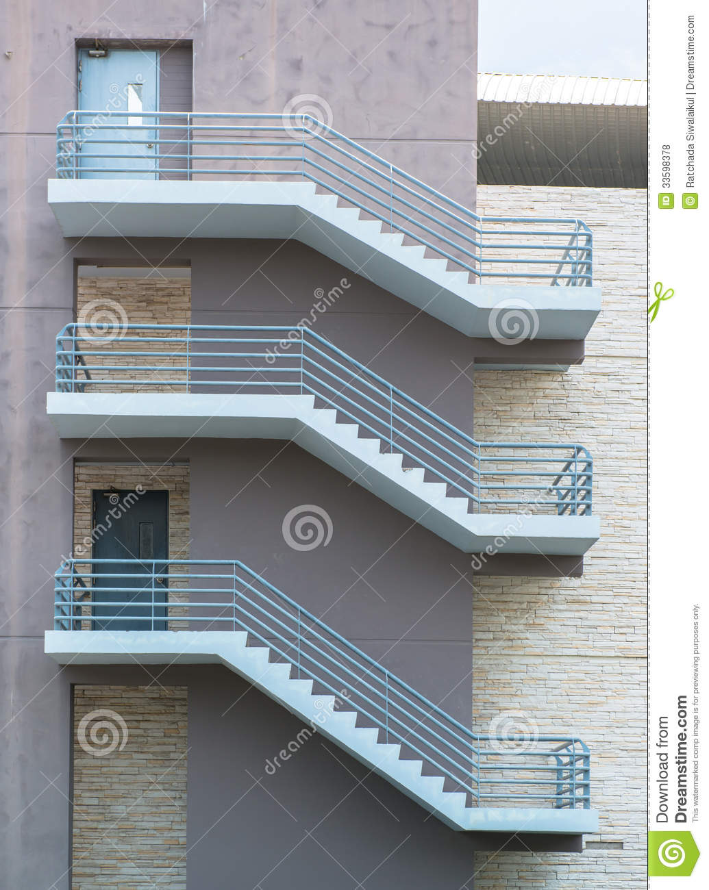 Royalty Free Stock Photo. Download Fire Escape Stairs ...