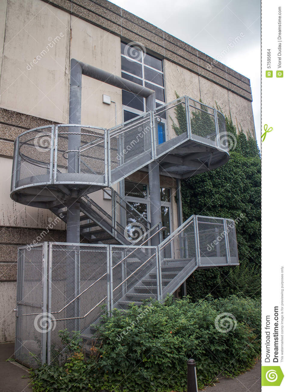 Escape Stairs Royalty Free Stock Photography
