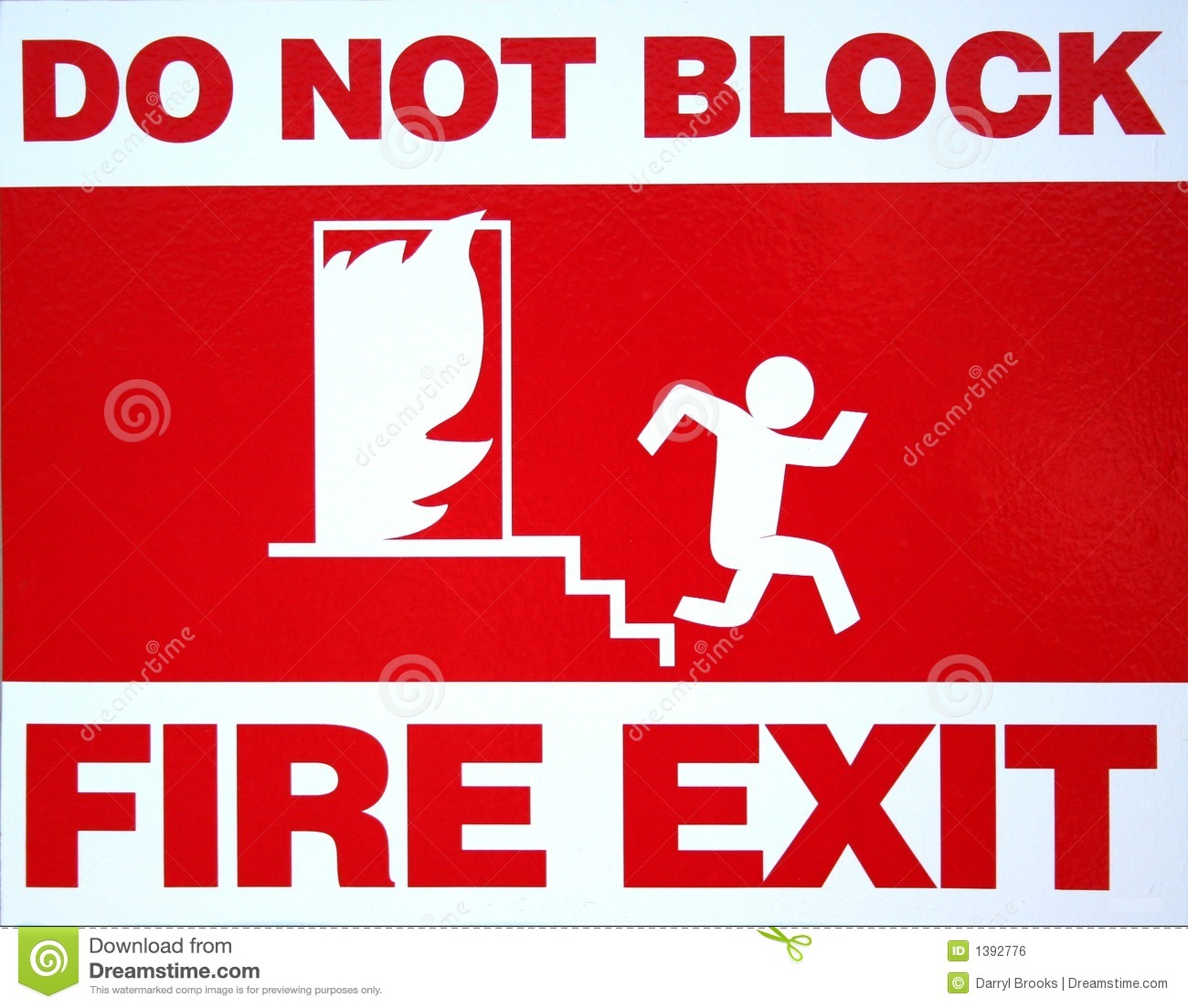 Fire Exit Royalty Free Stock Image Image 1392776