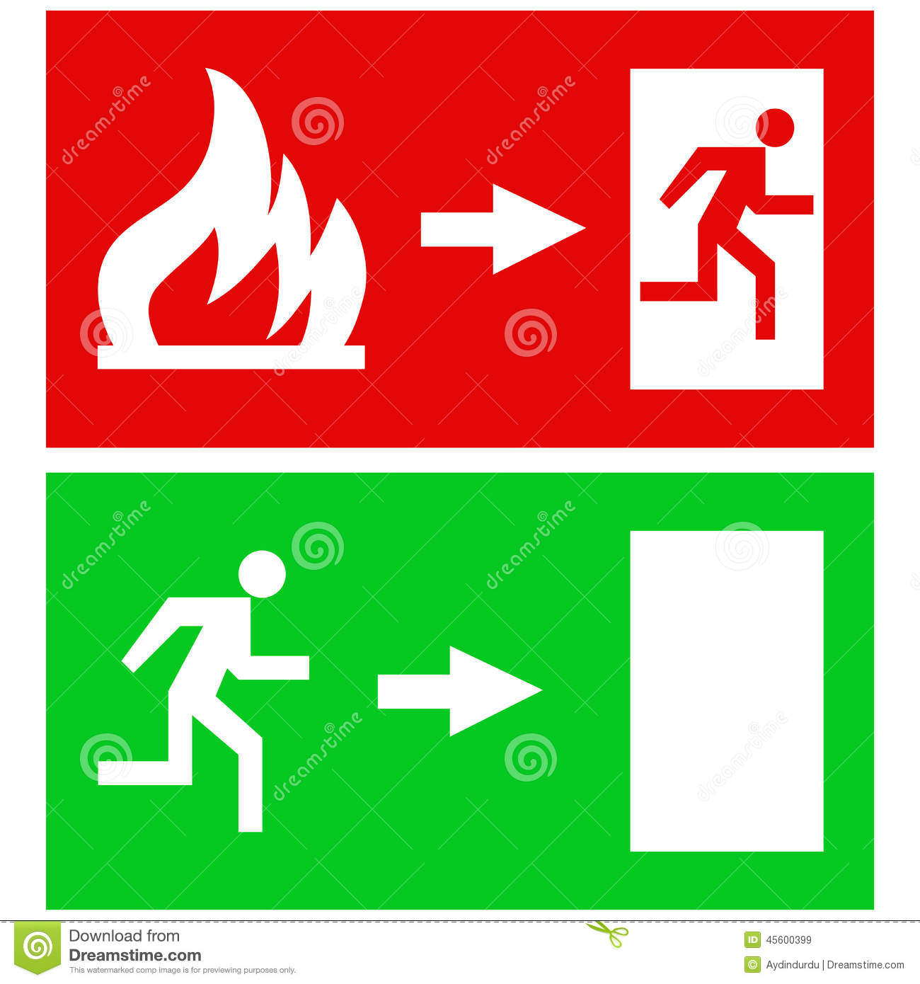 Fire exit signs stock vector illustration of design 45600399 fire exit signs buycottarizona Images