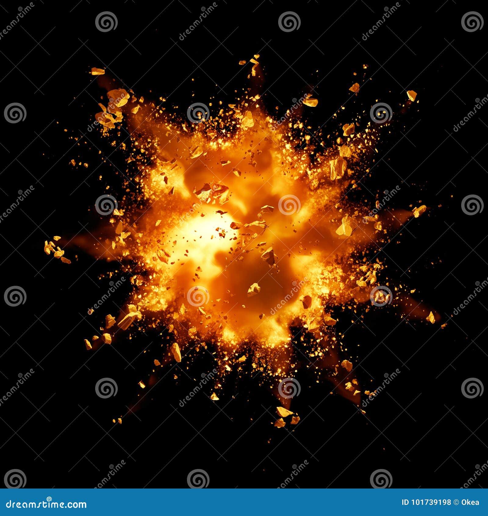 Download Fire explosion stock illustration. Illustration of demolition - 101739198