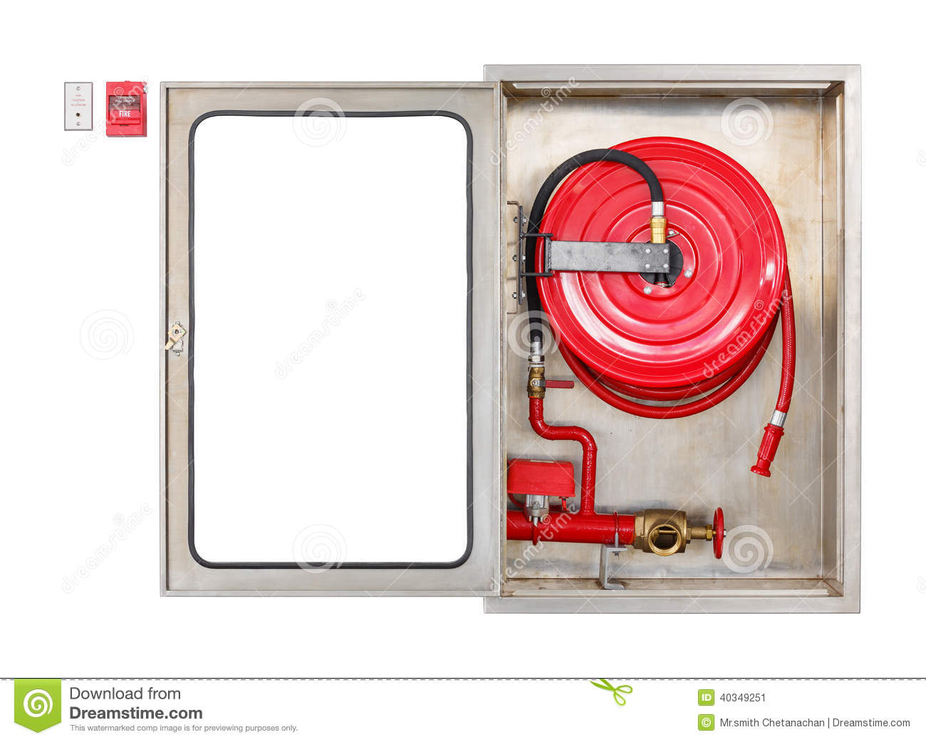 American Fire Hose And Cabinet Fire Extinguisher Cabinet Stock Photos Images Pictures 176