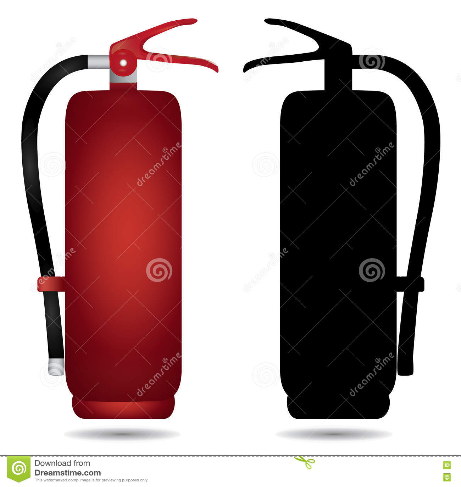 Fire Extinguisher Cabinet Stock Illustration Illustration