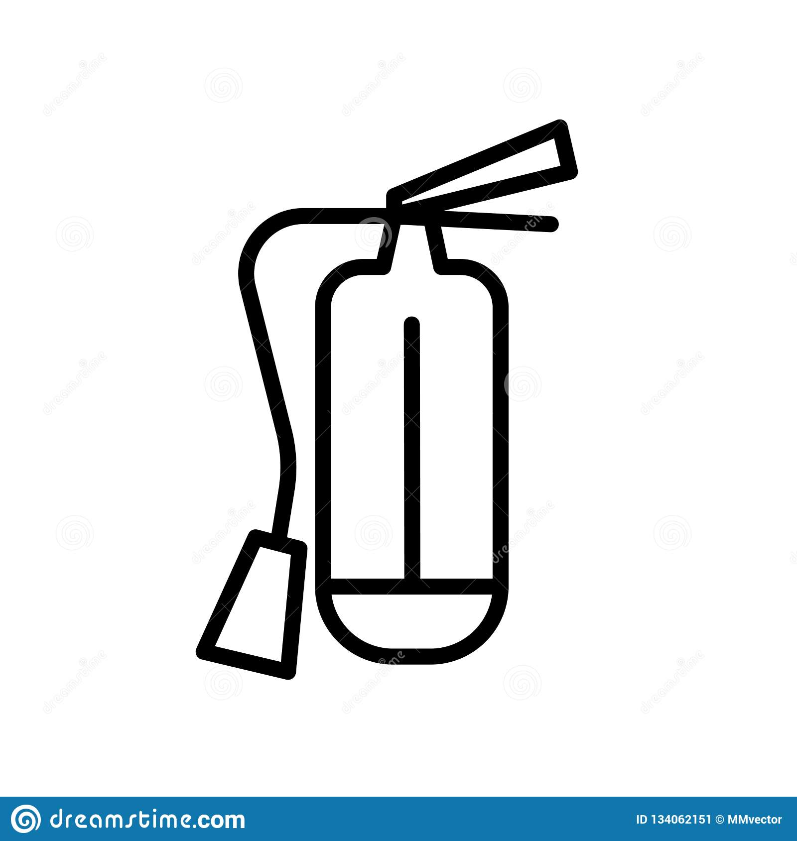 Fire Extinguisher Icon Vector Isolated On White Background