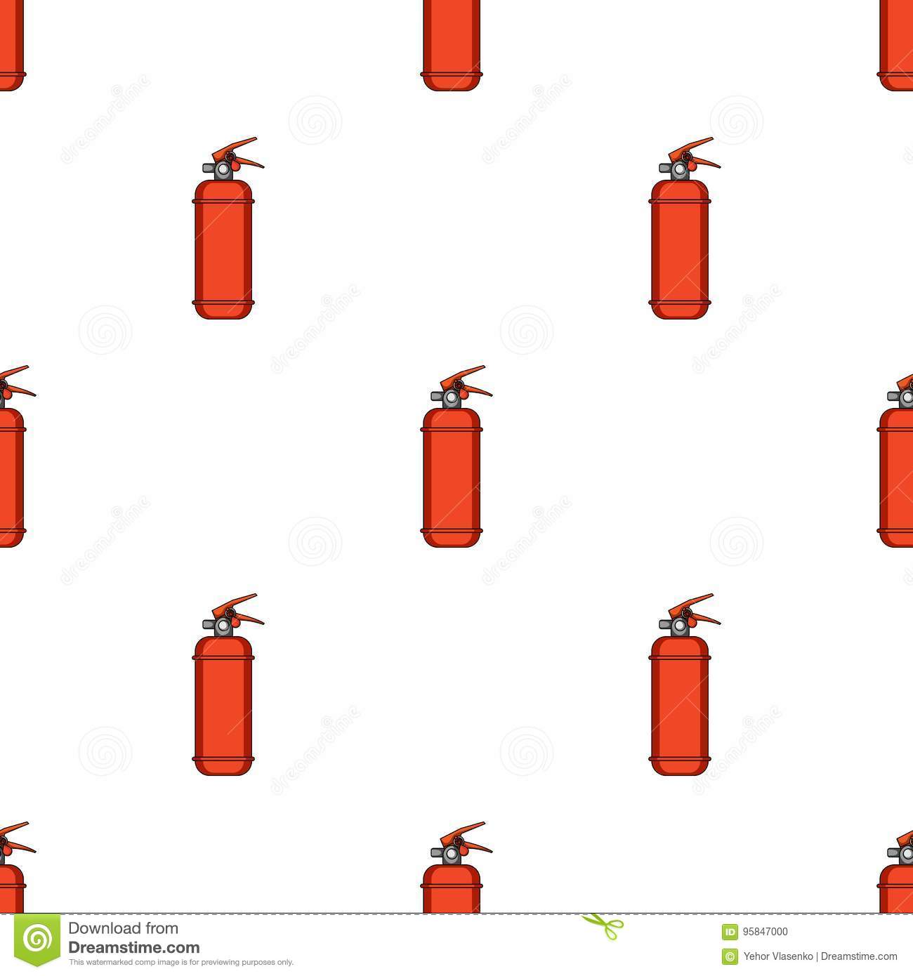 Fire Extinguisher Powderr Single Icon In Cartoon Style Vector
