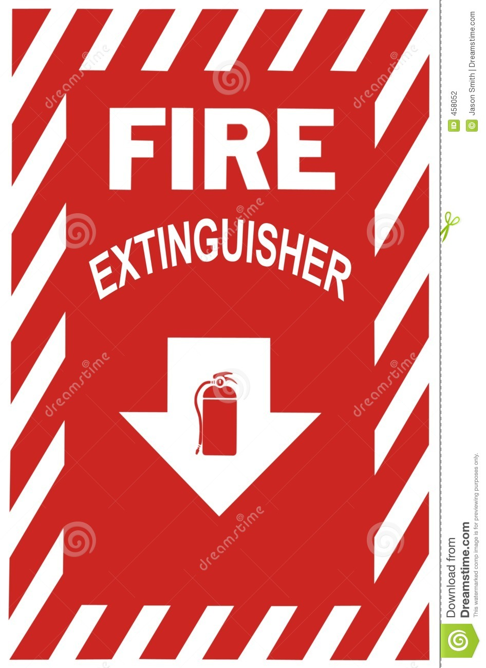 picture about Printable Fire Extinguisher Sign referred to as Fireplace Extinguisher Indication inventory image. Graphic of flame, protection