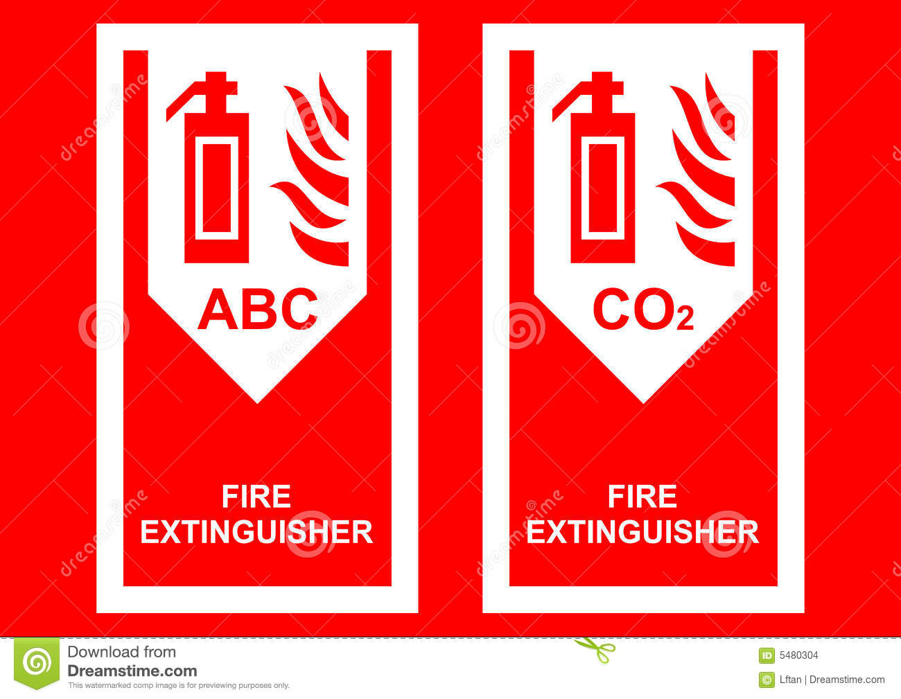 fire extinguisher sign stock vector image of extinguisher