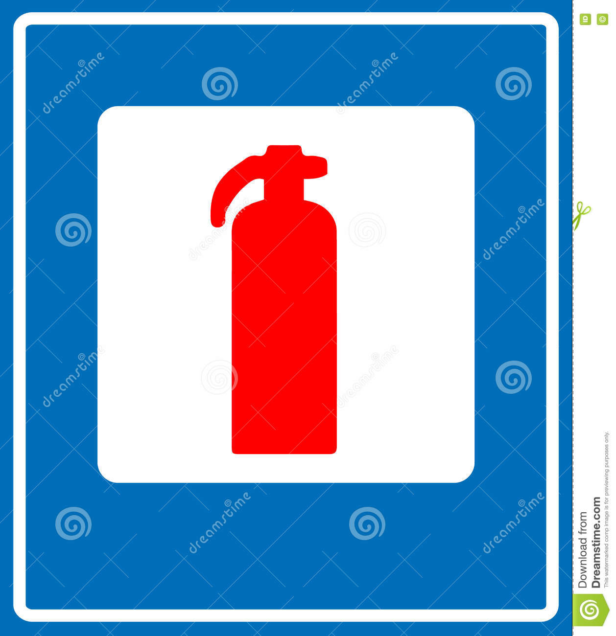 Fire Extinguisher Sign Stock Vector Illustration Of Arrow 82061870