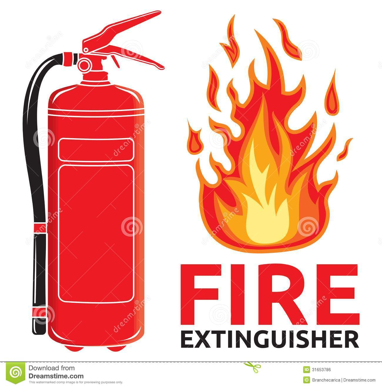 Fire Extinguisher Sign Royalty Free Stock Image - Image: 31653786