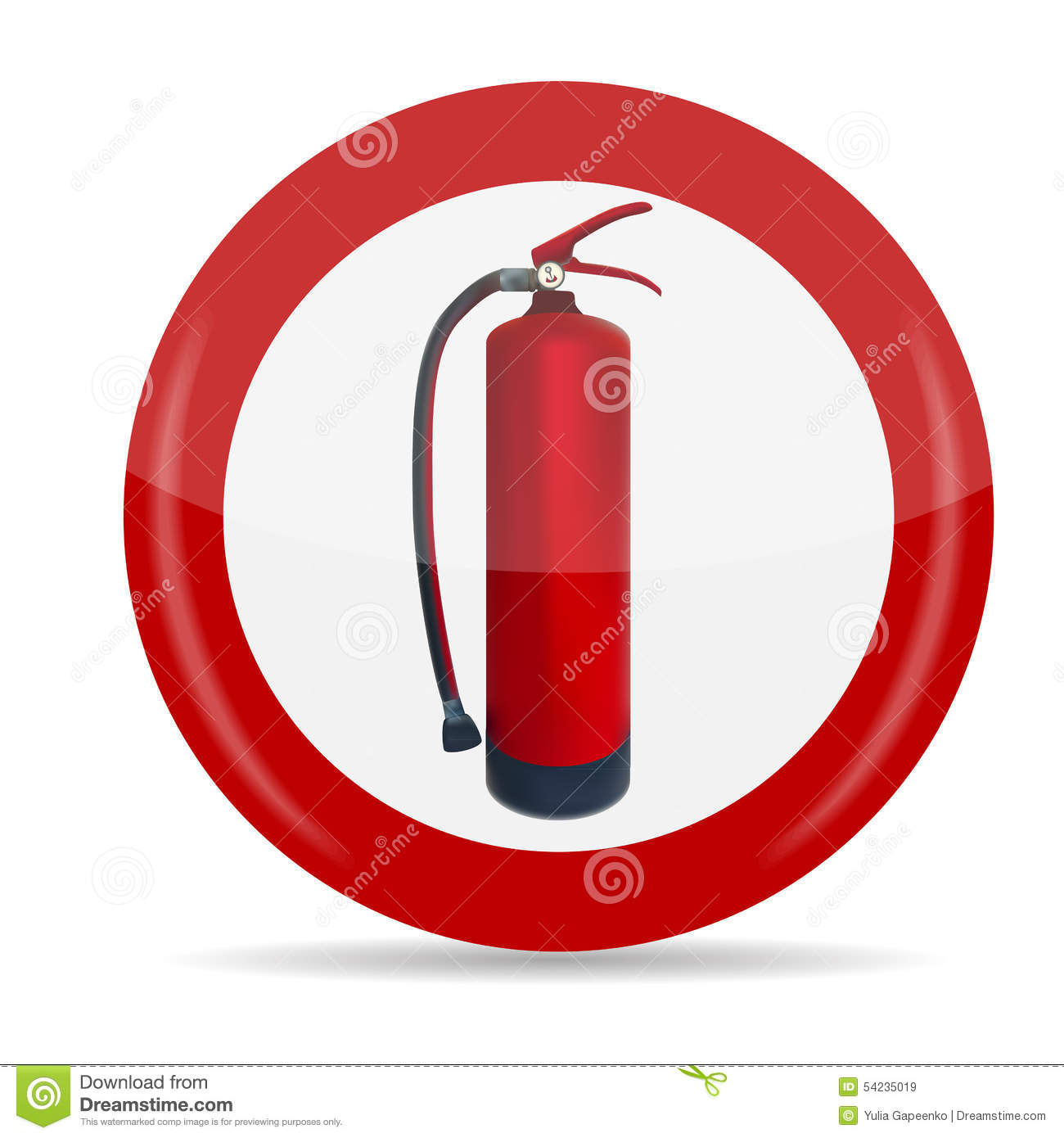 fire extinguisher sign vector illustration stock vector