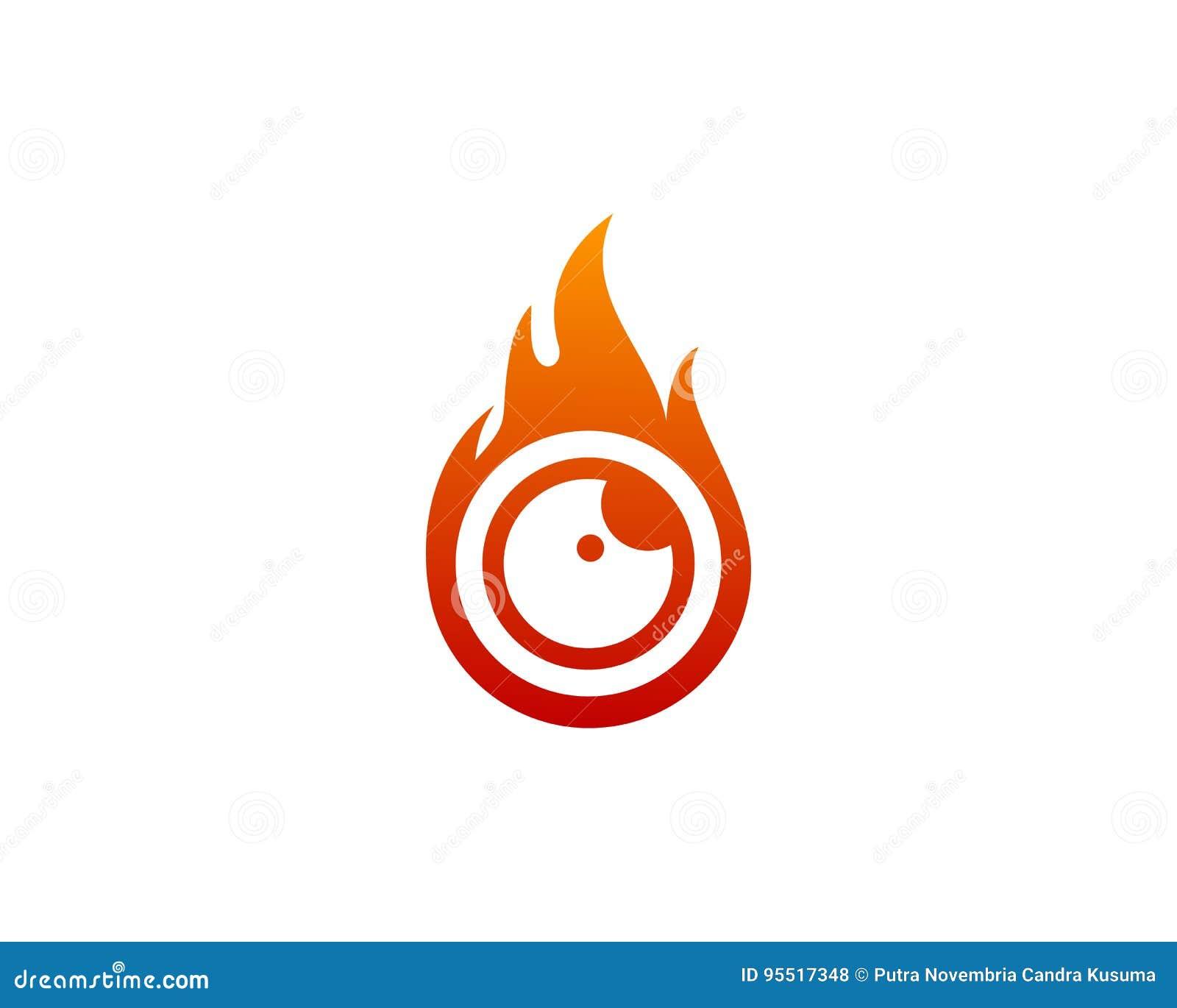 Fire Eye Icon Logo Design Element Stock Vector Illustration Of