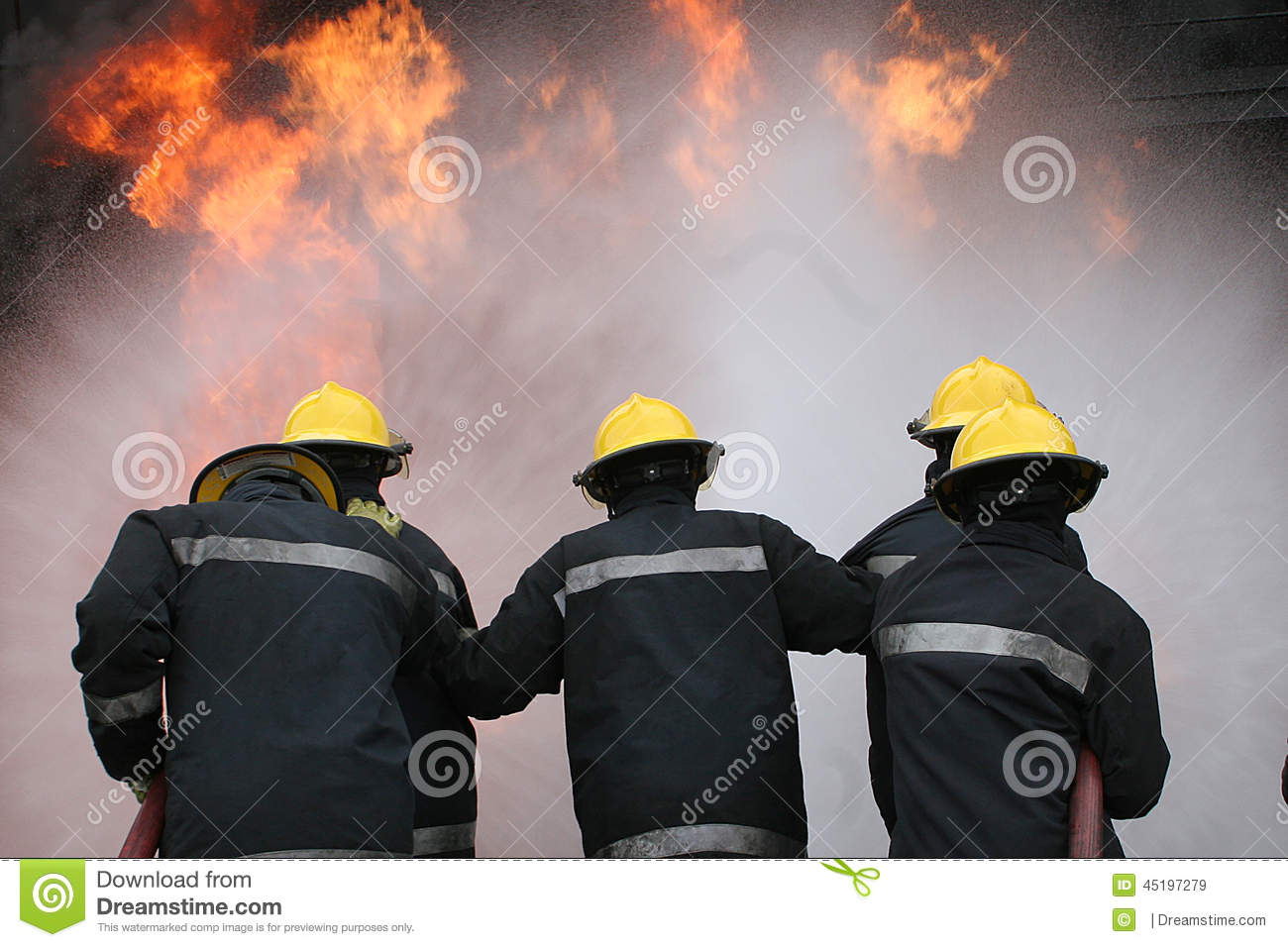 Fire fighter at fire