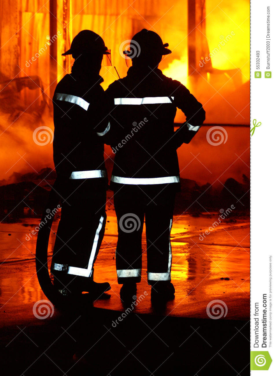 Fire fighters at incident