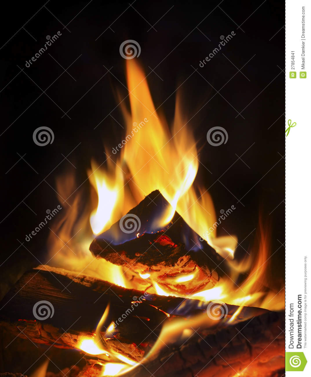 Fire In Fireplace Royalty Free Stock Photo Cartoondealer