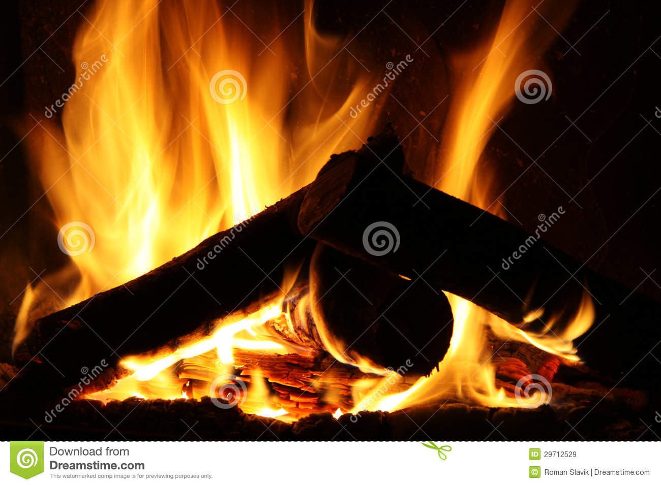 fire in a fireplace fire flames on a black background royalty