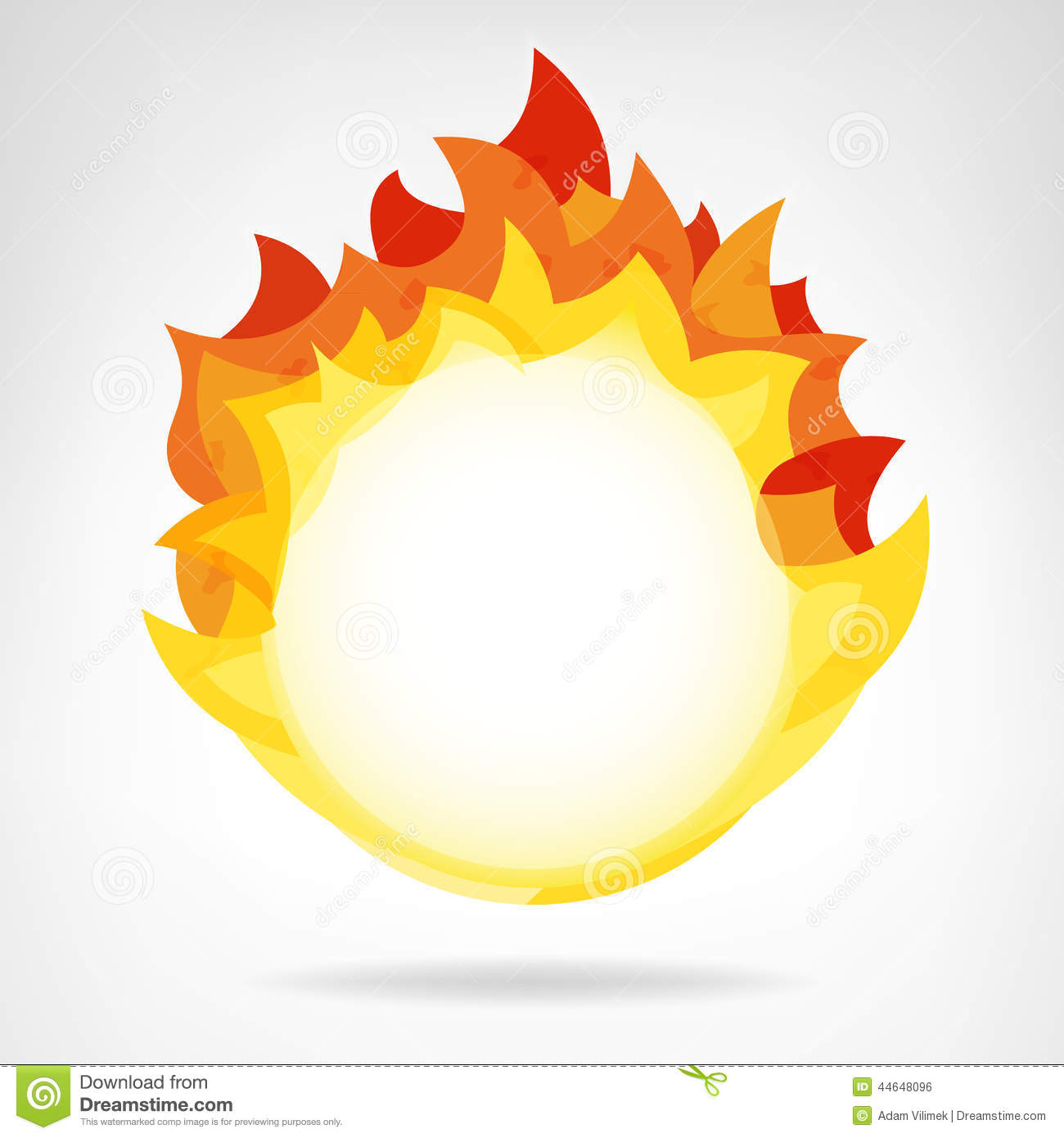 Download Fire Flame Circle Backdrop Isolated Vector Stock Illustration    Illustration Of Element, Ignite:
