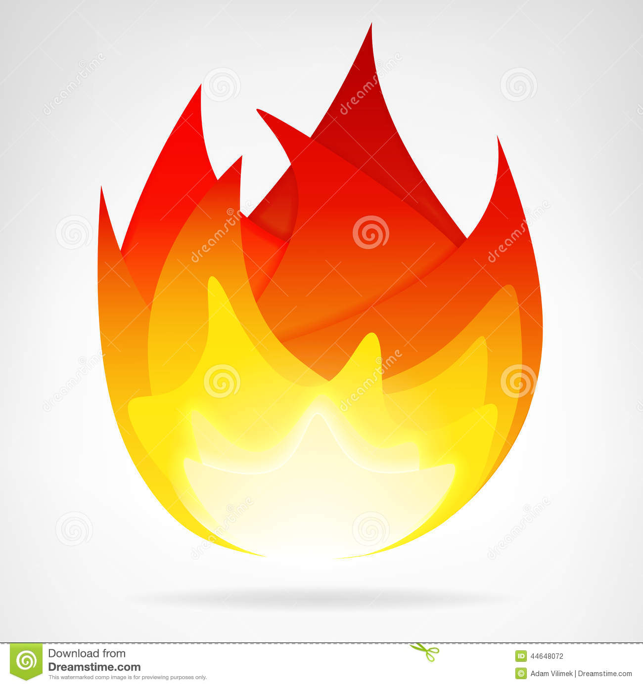 Fire Flame Energy Isolated Vector Stock Vector - Image: 44648072