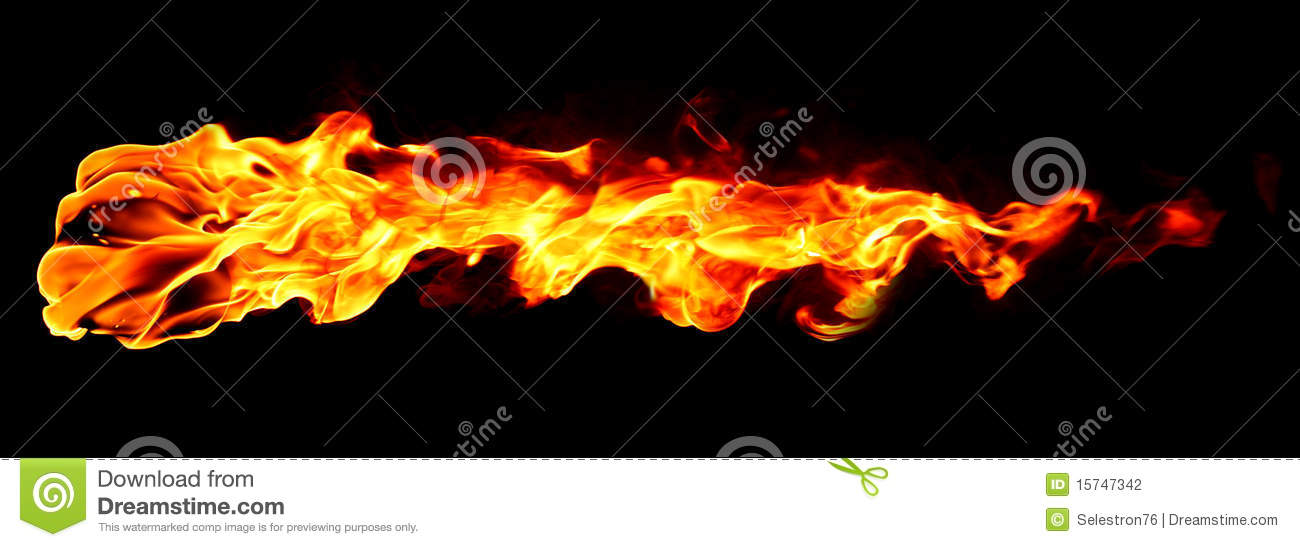 Fire flame isolated