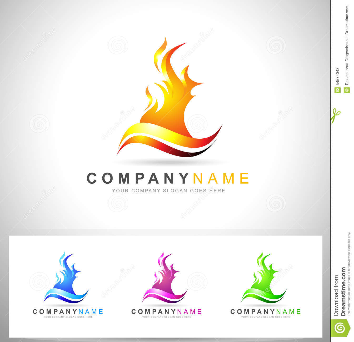 fire flame logo stock vector illustration of design 54574043