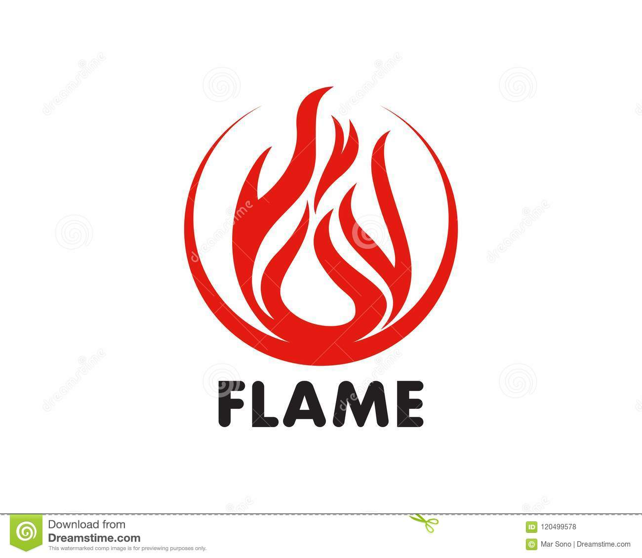 fire flame logo template vector icon oil gas and energy logo co
