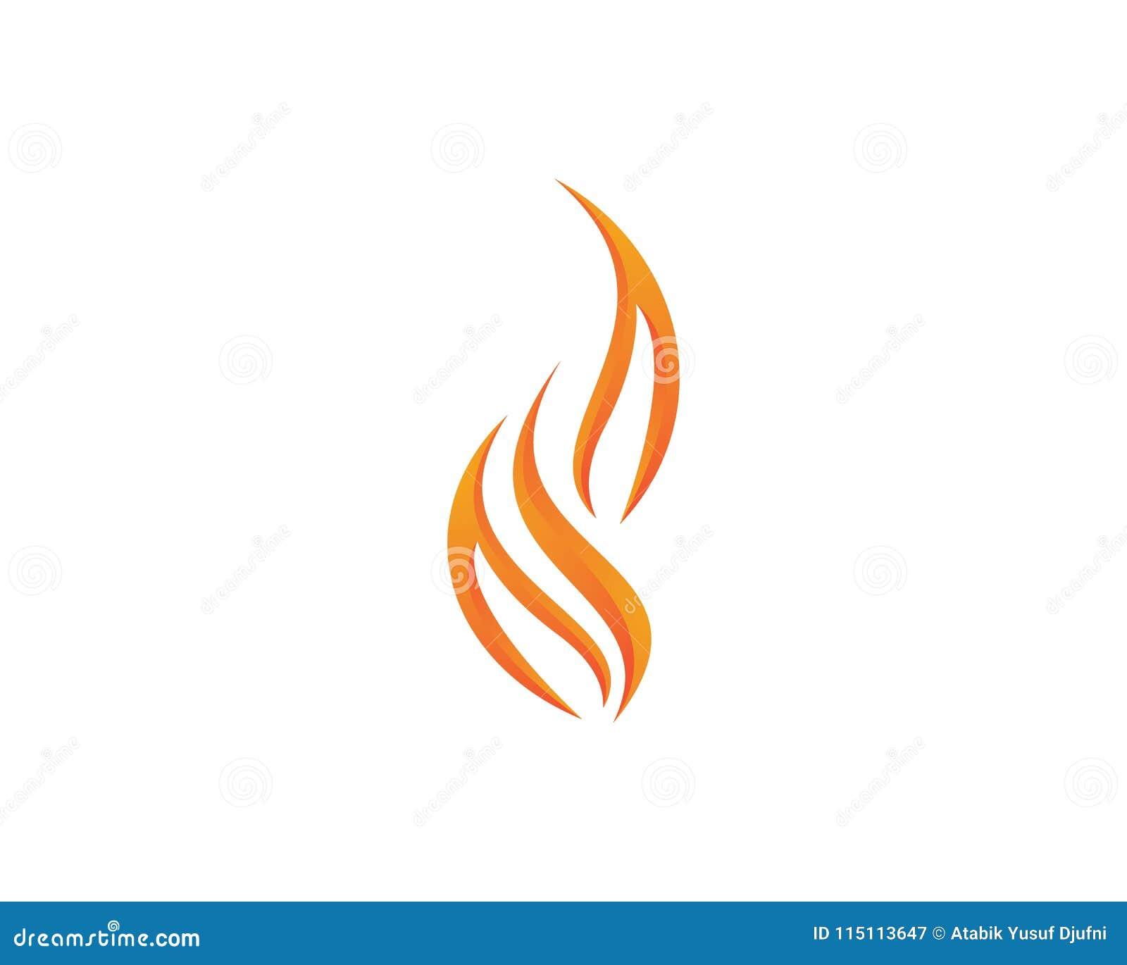fire vector icon stock vector illustration of fireball 115113647
