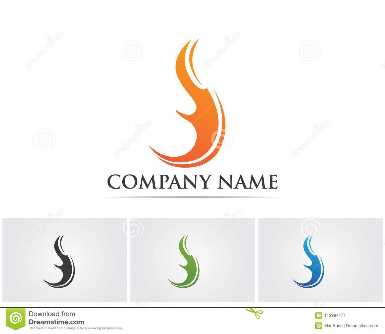 Fire nature logo and symbols icons template
