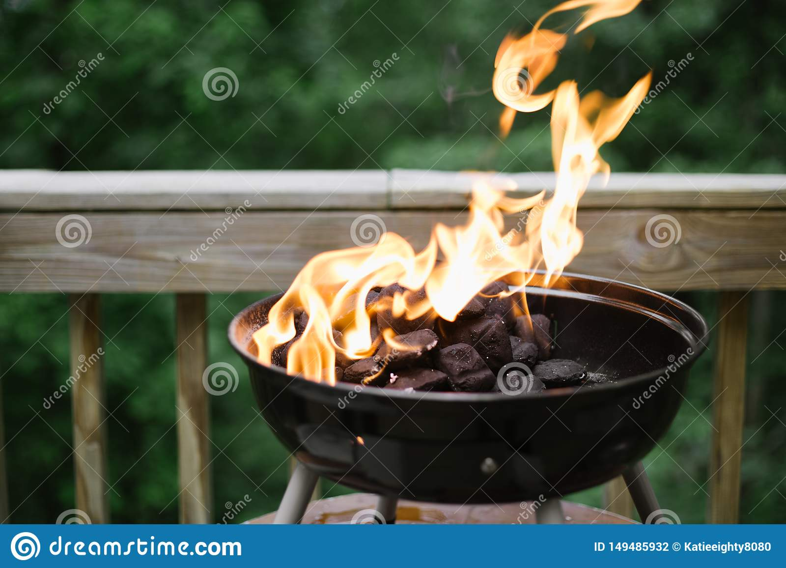 Fire and Flames in A Backyard Barbecue