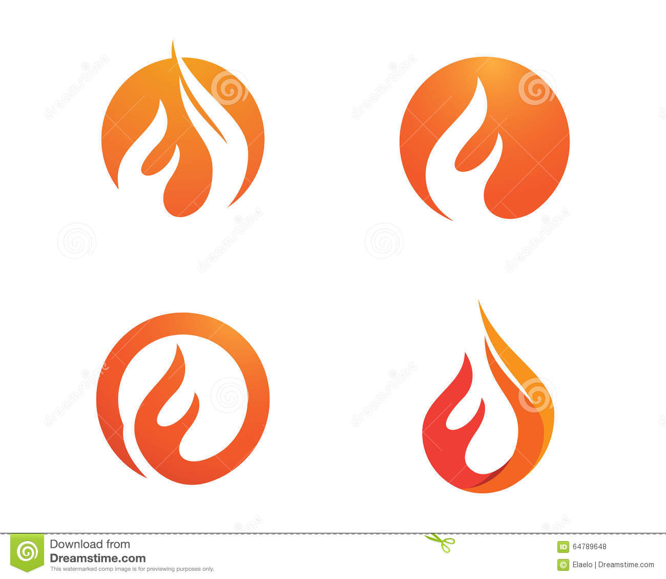 Fire flames Logo template stock vector. Illustration of campfire ...