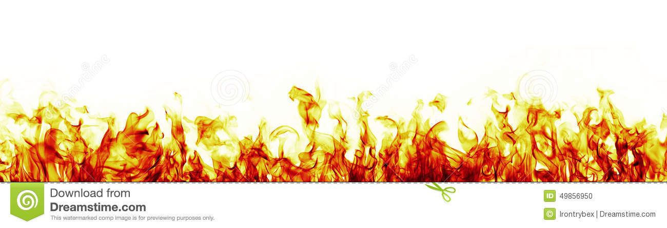 fire flames on white background more red version stock