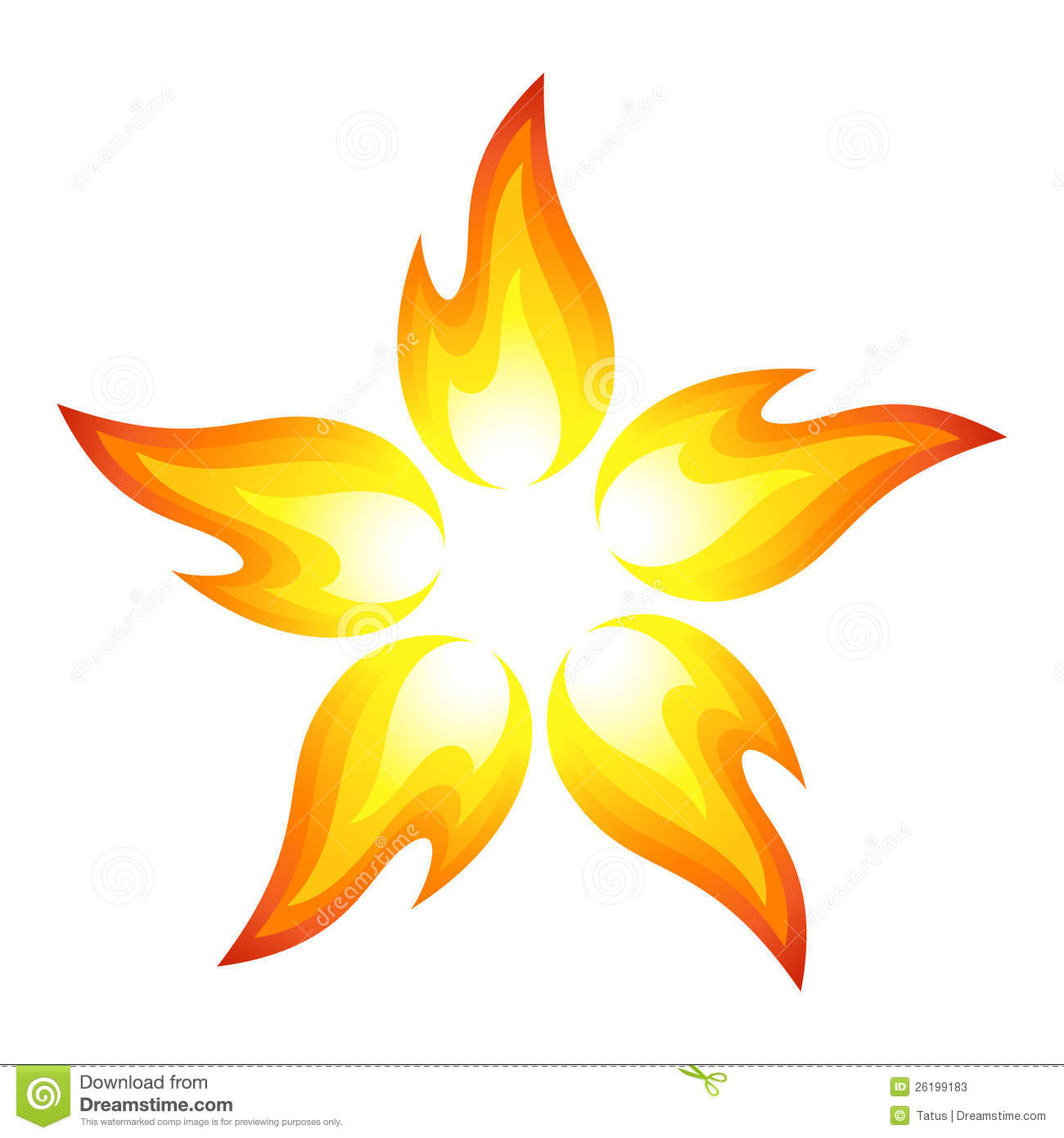 Fire Flower Stock s Image