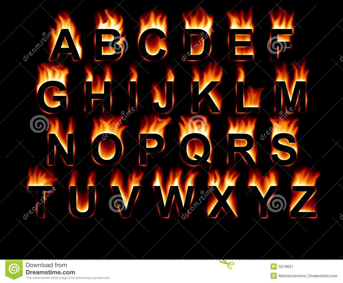 Fire Font Stock Image - Image: 5519651