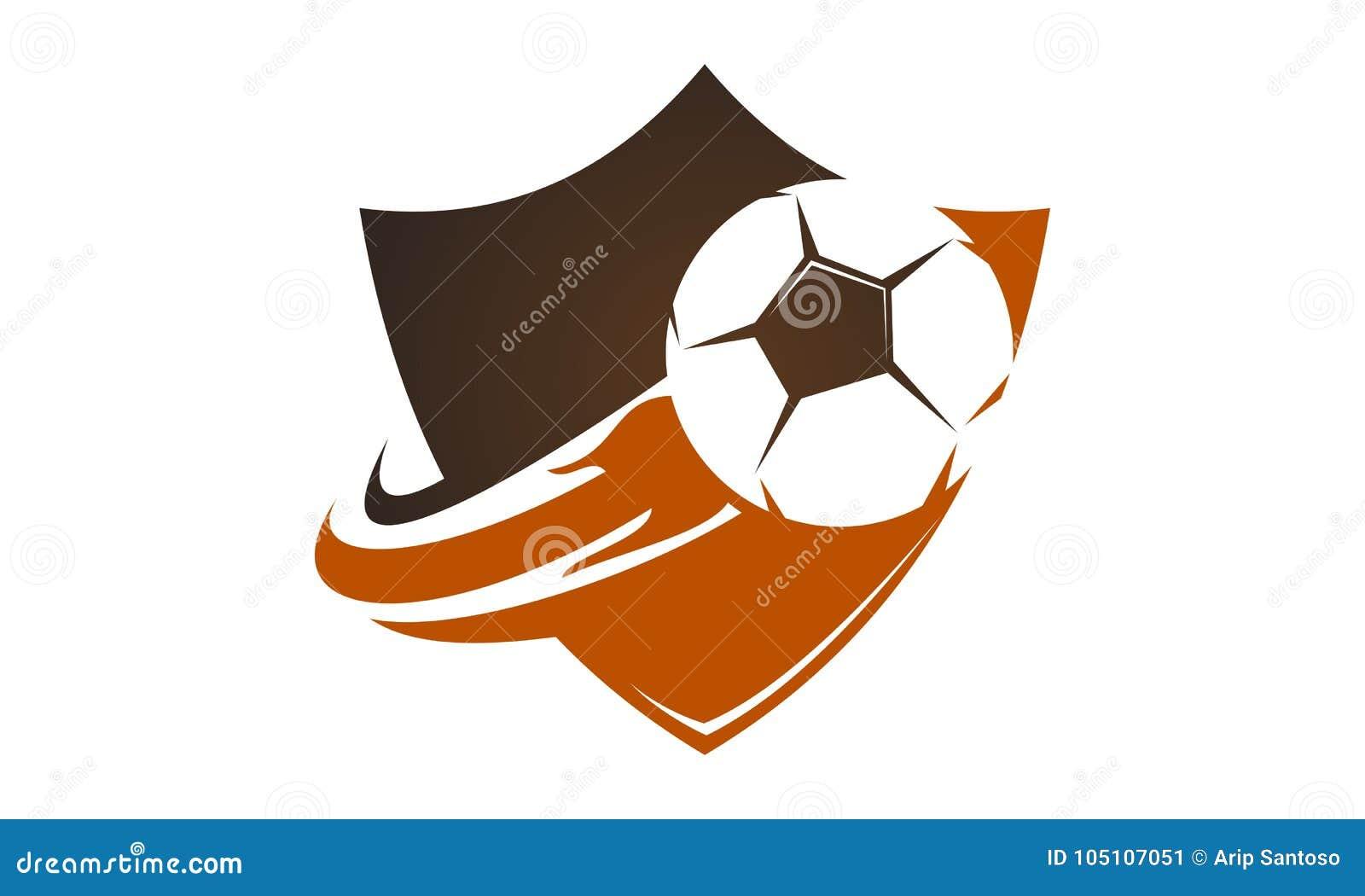 Fire Football On Shield Stock Vector Illustration Of Fast 105107051