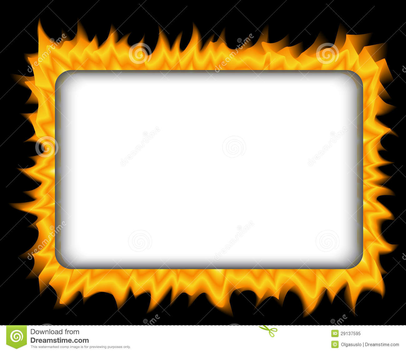 Fire Frame Royalty Free Stock Photo - Image: 29137595