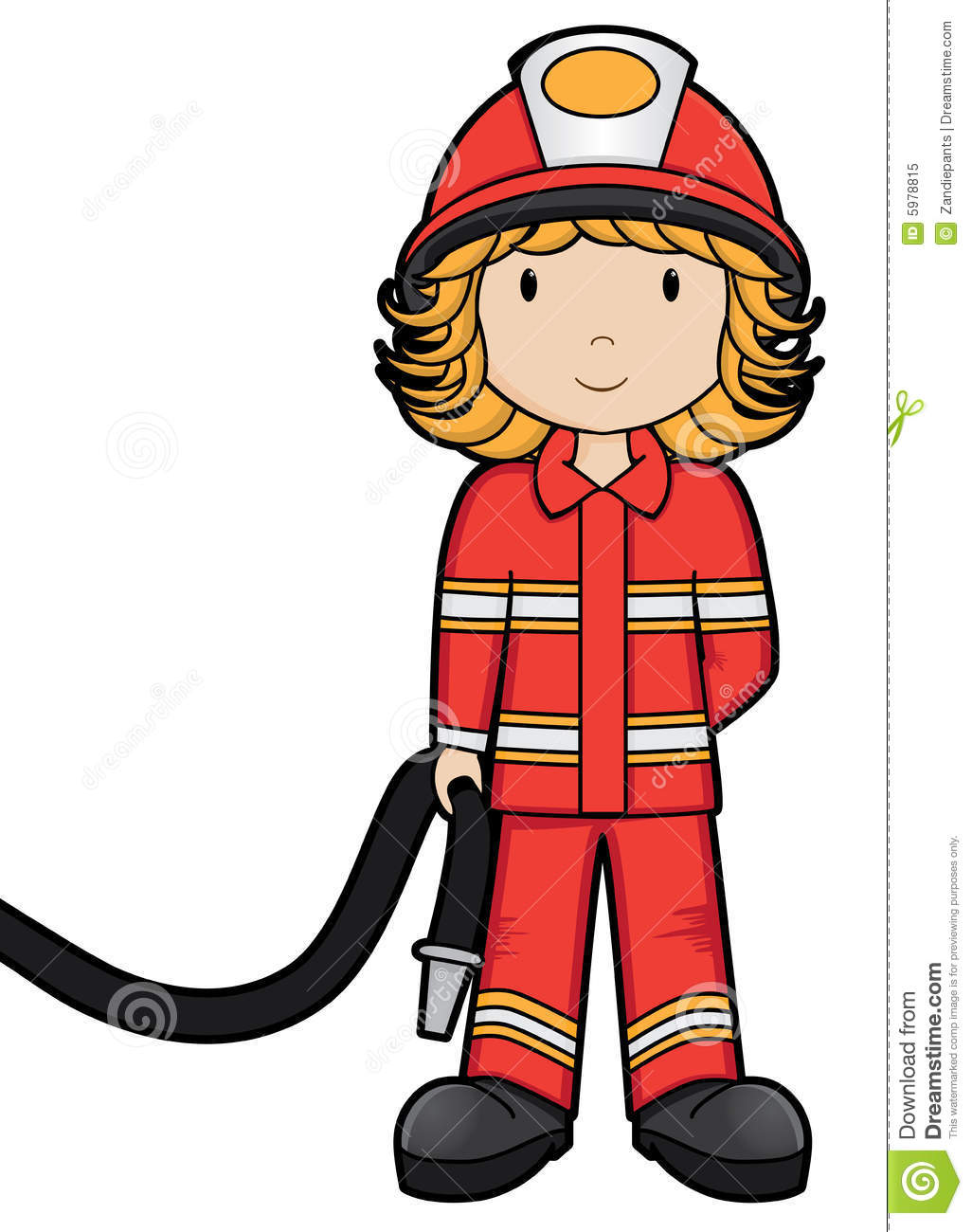 Fire Girl - Vector Royalty Free Stock Photo - Image: 5978815